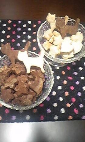 ココア&ブルーベリークリチのクッキー