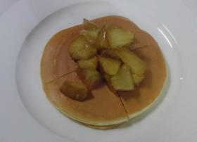 リンゴのコンポート&ホットケーキ