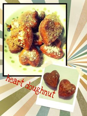 簡単♪可愛い♪ハートのドーナツ