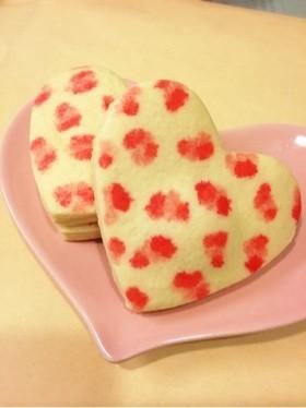 プレゼントヒョウ柄かわいいハートクッキー