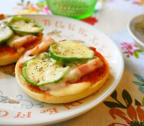 マフィンで簡単☆ピザトースト