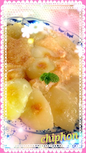 【HM】クリチ&桃缶のタルトタタン
