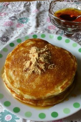 餅米粉で簡単おやつ☆もちもちパンケーキ★
