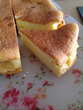 バター節約☆水切りヨーグルトのスフレ