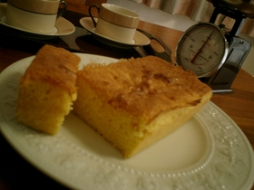 ふわふわサクサク簡単パウンドケーキ