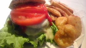 【ホットケーキMIX】でハンバーガー