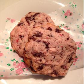 卵不要!ふんわり苺のチョコチップクッキー