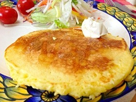 クリームチーズシナモン♡パンケーキ