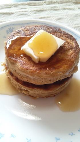 【糖質制限】分厚いふすま粉パンケーキ