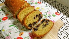 プルーンとライ麦のパウンドケーキ