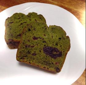 粒あんの濃厚抹茶パウンドケーキ