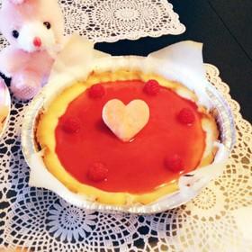 ラズベリーチーズケーキ♡タルト風♪