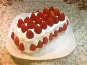 糖質制限!大豆粉で苺ショートケーキ