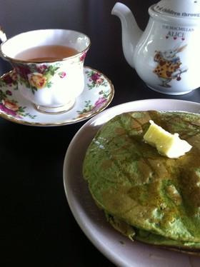 小麦粉でつくる、ふわふわっ抹茶パンケーキ