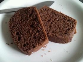 サラダ油使用 ココア・ラムパウンドケーキ