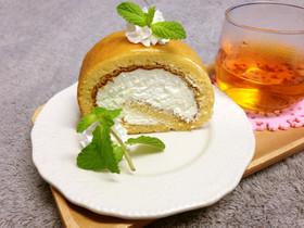 はちみつレモンのしっとりロールケーキ♪