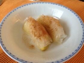 ライスペーパーとリンゴのもちもちデザート