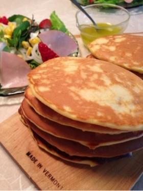 朝食に☆ぷちぷちスイートコーンパンケーキ