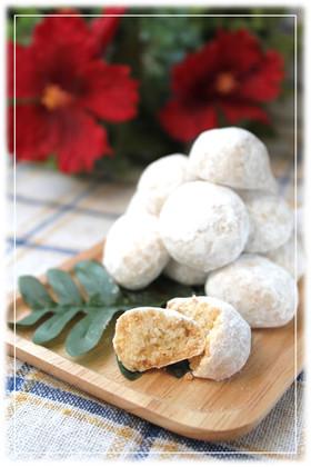 カリッ♪ココナッツのスノーボールクッキー