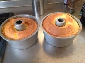 シフォンケーキ 15センチ型2つ用