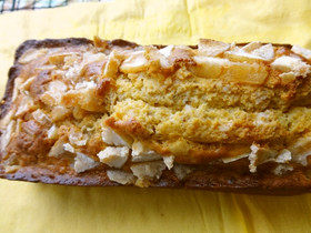 甘酒とココナツオイルでパウンドケーキ