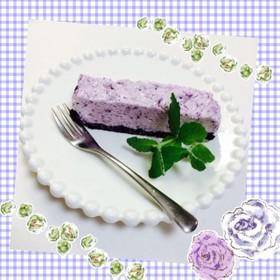 ブルーベリーのレアチーズケーキ♡