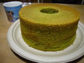 簡単ふわ・ふわ 抹茶シフォンケーキ