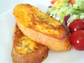 フランスパンでチーズフレンチトースト