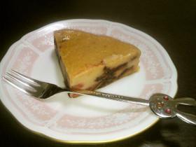 チェリーのベイクドチーズケーキ♪