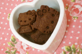ライ麦と米粉入ココアクッキー☆低カロリー