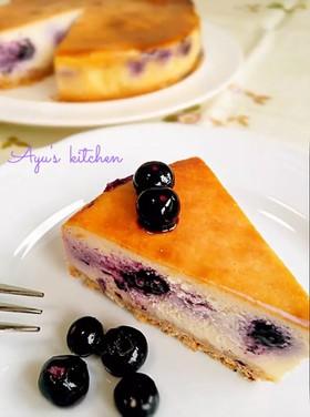 ベイクドチーズケーキ*ブルーベリーin♪