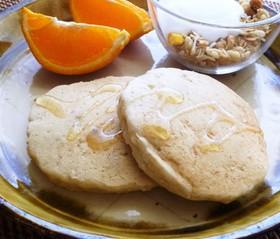 オートミールと玄米粉のパンケーキ