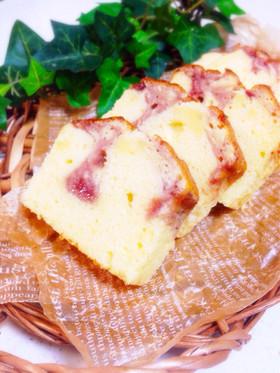 ヨーグルトでふわふわジャムパウンドケーキ