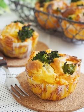 卵・油分不使用☆野菜たっぷりカップケーキ