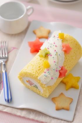 カルピスソフト♪レンジで簡単ロールケーキ
