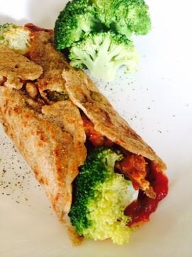 余り肉と余り野菜で★ライ麦粉のクレープ