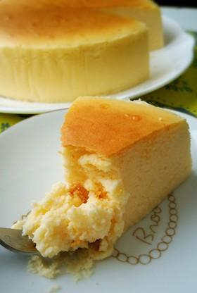 しっとり濃厚❤半熟スフレチーズケーキ