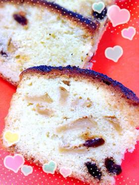 りんごとレーズンのパウンドケーキ