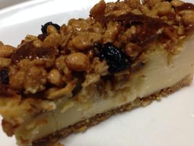 ザクザク美味しいグラノーラのチーズケーキ