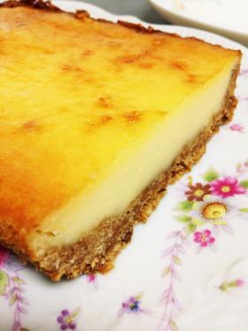 キリ6個でベイクドチーズケーキ!