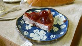 デラウェアとカシスのマーブルチーズケーキ