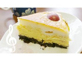デラウェアとうゐろう風チーズケーキ。