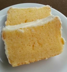 ゆずのパウンドケーキ☆ホワイトチョコがけ