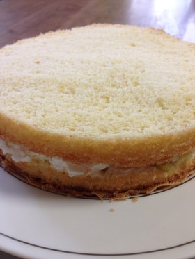 バター無しの軽いスポンジケーキ
