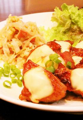 ❀鶏もも肉の簡単甘辛照り焼きチーズのせ❀