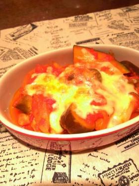 とろーりチーズの夏野菜&チキンのトマト煮