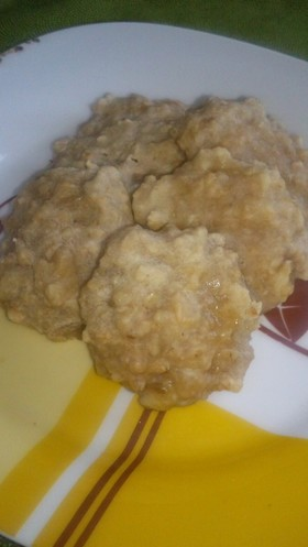 離乳食 オートミールとバナナのクッキー☆