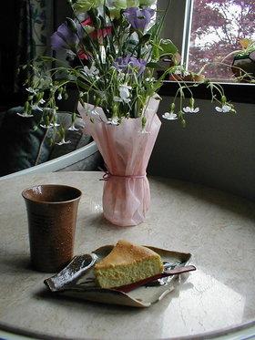 枝豆チーズケーキ・・秋の日はヴィヨロンの