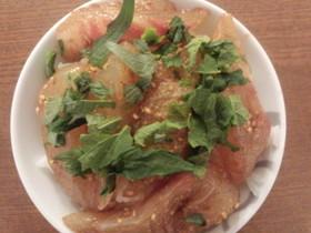 余った鯛の刺身で!即席「宇和島風★鯛飯」