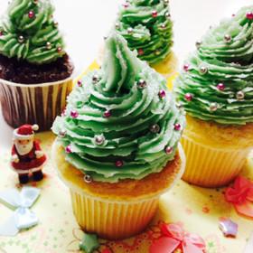 ▼クリスマスカップケーキ